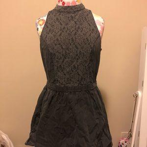 High Neck Dark Rose Dress